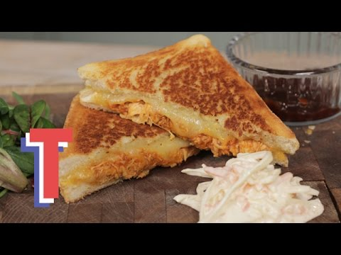 Pulled Chicken Grilled Cheese Sandwich I Good Food Good Times 2