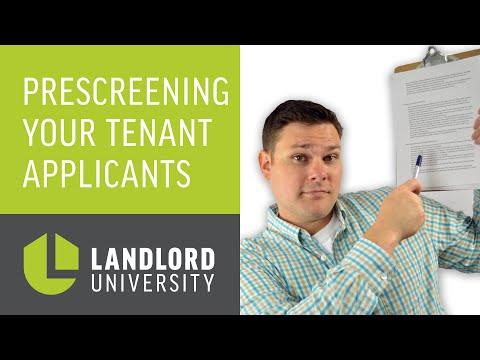 How to Prescreen Tenant Applicants | Landlord University