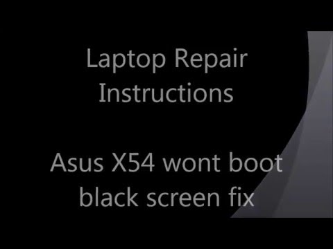 How to fix black screen problem on Asus laptop