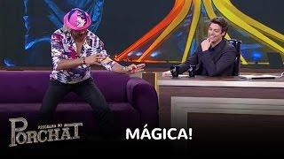 Tiririca surpreende Fábio Porchat com 'truque' de mágica