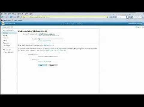 Windows Live Hotmail - Link Email Accounts