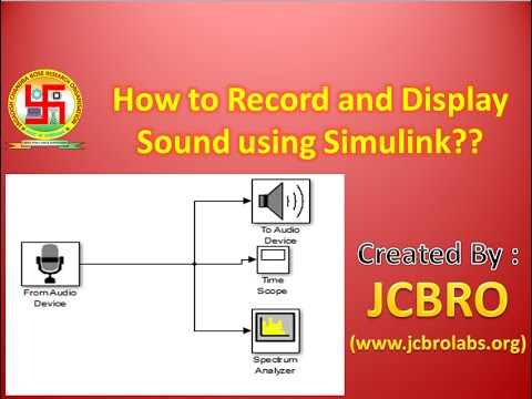How to record and display sound using Simulink??