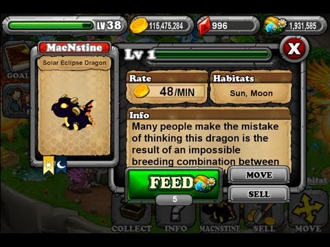 How To Breed a Solar Eclipse Dragon In Dragonvale (Easiest Method)