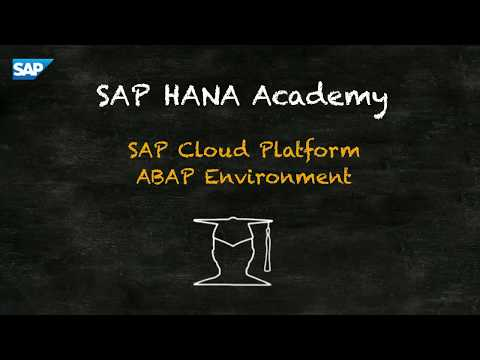 SAP HANA Academy - SAP CP ABAP Env: 03. Create Application