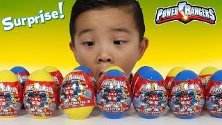 Power Rangers Surprise Eggs Opening Fun With Ckn Toys Ovos Surpresa