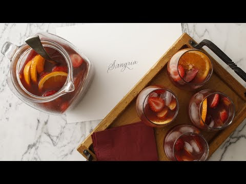 Sangria with Fresh Peaches and Apricots- Martha Stewart
