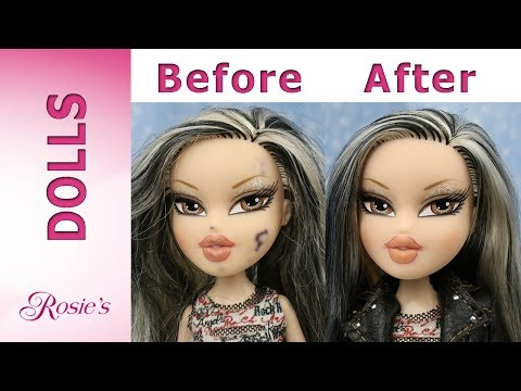 Bratz Rock Angelz Jade Makeover - How To Remove Ink Off A Doll