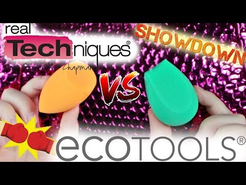 BATTLE OF THE BEAUTY SPONGES: ECO TOOLS VS REAL TECHNIQUES | MakeupbyMegB
