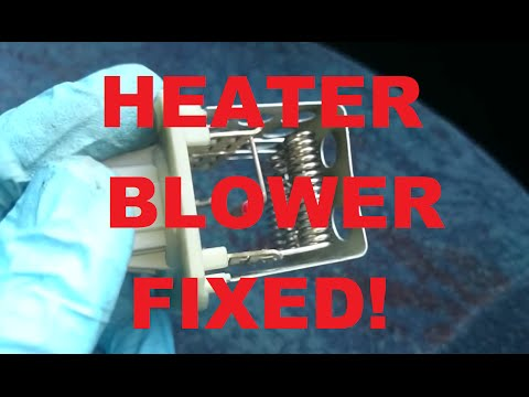 HOW TO: Heater fan control fault fix! Blower resistor swap! Peugeot 206