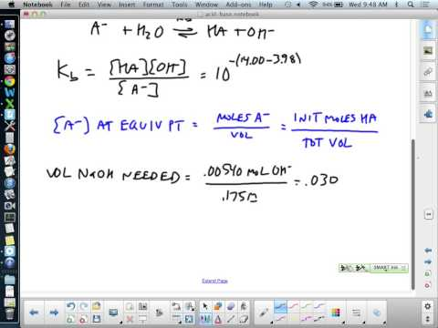 Calculation of pH at the Equivalence Point in a Titration