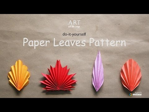 DIY : Paper Leaves Pattern