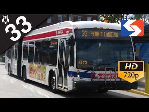 SEPTA Ride: 2015 NovaBus LFS Articulated #7376 on route 33 to Penn's Landing