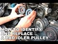 How to diagnose and replace a bad idler pulley - Porsche 911 996