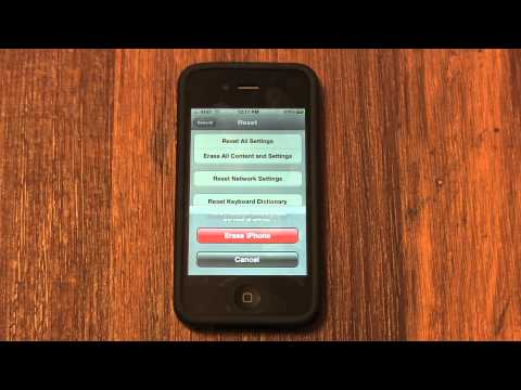 A: How to Erase and Factory Reset an iPhone 4S / 4 / 3GS / 3G - How to Use My iPhone Tutorial 3