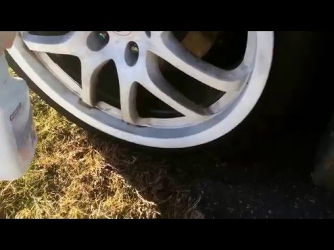 How to: CHEAPLY Clean Plastidipped wheels (white)
