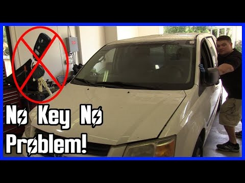 How to Move a Car Without the Key! - Lost Your Key?