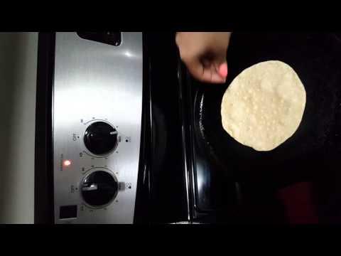 How to make phulkas/roti on cast iron pan and glass top stove