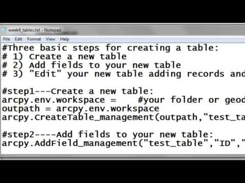 3) Creating Line Feature Classes Using Arcpy Scripting