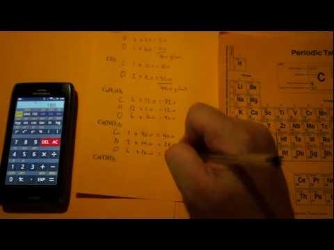 Determining Molar Mass (Gram Formula Mass, Molecular Mass, Molecular Weight...)