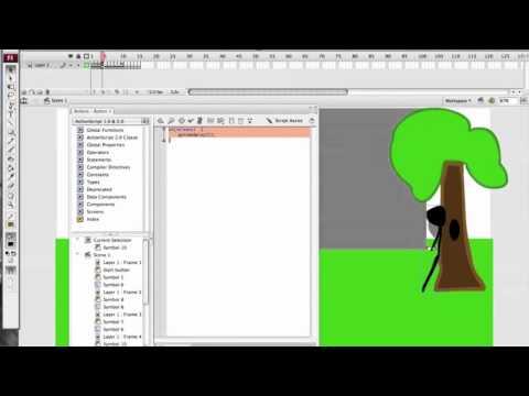 Adobe Flash CS3 Advanced Shooter Game Tutorial Part-3 W / Voice