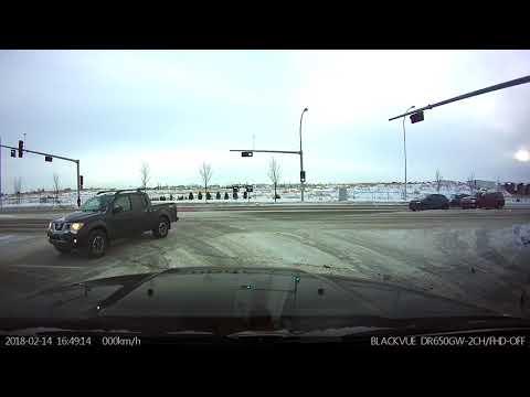 Almost accident Edmonton 167Ave Feb 14 2018