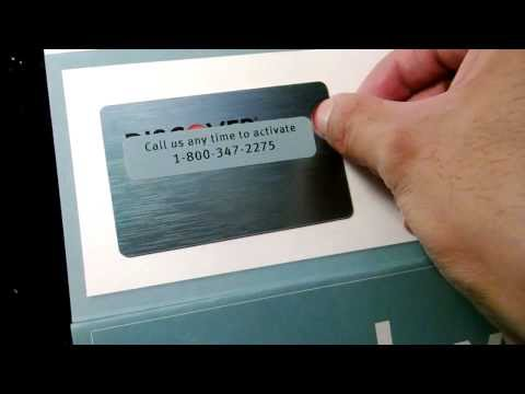 discover card credit card unboxing