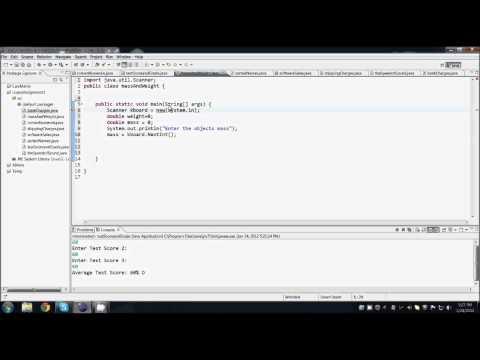 Java Programming - Mass in Newtons