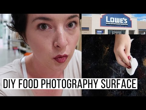 DIY Rusty Cookie Sheet Food Photography Surface | Vlog