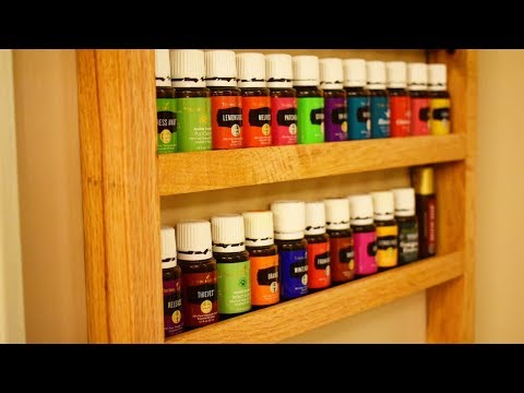 How To Make a DIY Hanging Essential Oils Shelf
