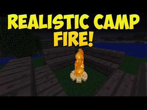 Minecraft: How To Create A Realistic Campfire! | Campfire Tutorial! [Xbox & Playstation]