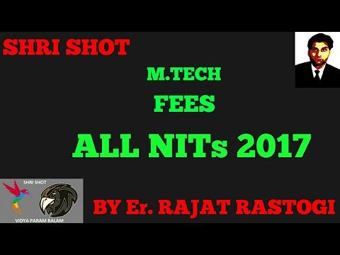 FEES - ALL NIT -  M.TECH - 2017 - INSTITUTION , MESS & HOSTEL FEES - SHRI SHOT