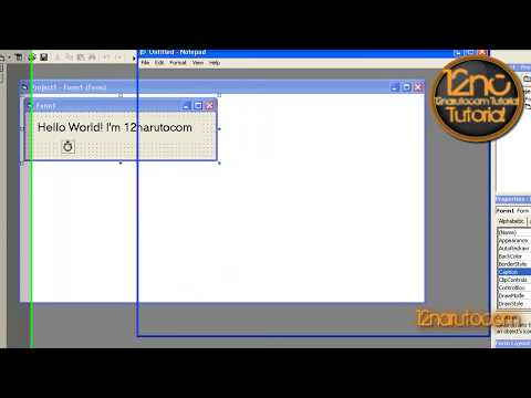 Make Slide Text In Visual Basic 6 [HD]