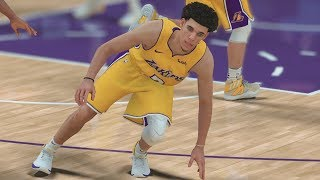 NBA 2K18 My Career - Got Lonzo Ball Leaning! LaVar Text! PS4 Pro 4K Gameplay