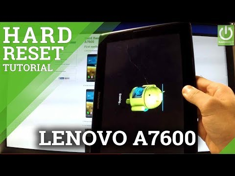 How to Hard Reset LENOVO A7600 - Restore Factory Settings