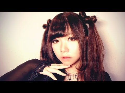 Cute Ribbon Twintails Hairstyle + Japanese Style Curled Side Bangs