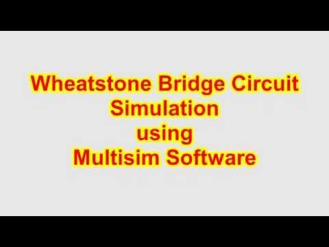 Wheatstone Bridge Circuit Simulation using Multisim