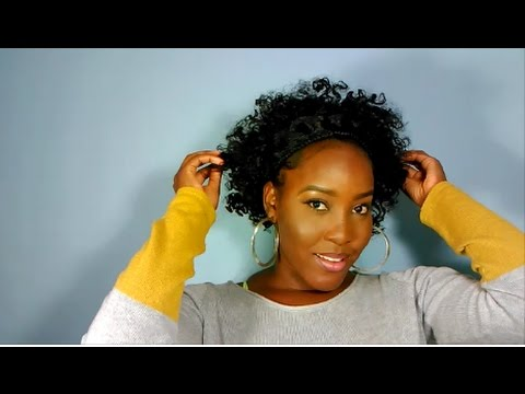 Curly Afro Hair Tutorial for Relaxed hair