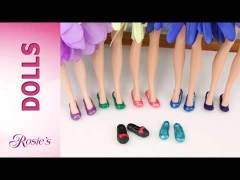 How to make shoes for Disney Fairies and other dolls - Super Easy!