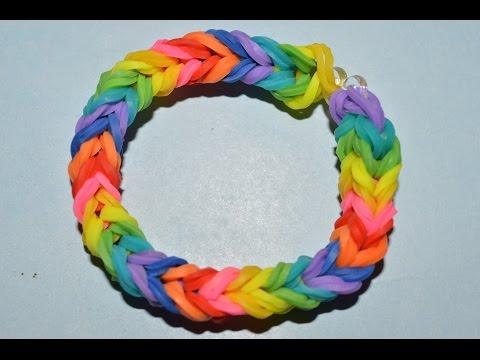 How to Make a Triple Fishtail Rubber Band Bracelet - Steps Instruction Tutorial - Mazichands.com