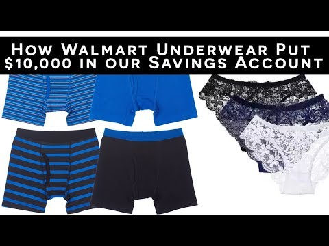 How Walmart Underwear Put $10,000 in our Savings Account