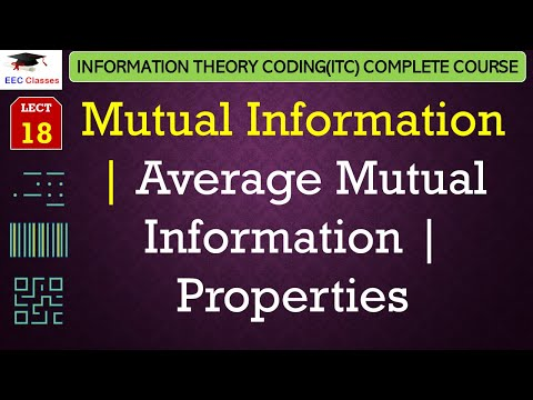 Mutual Information, Properties with Solved Numerical - ITC Lectures in Hindi