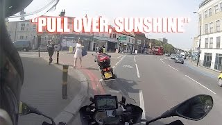 Motorcyclist chases scooter thieves in London