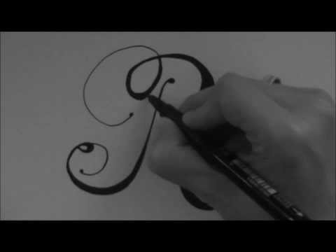 Cursive fancy letter - how to write your beautiful letter R