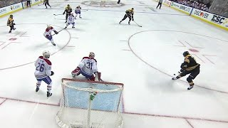 David Pastrnak scores equalizer after nice passing play by Bruins