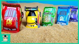 Learning Color Special Disney Pixar Cars Lightning McQueen Sand Play for kids car toys | MariAndToys