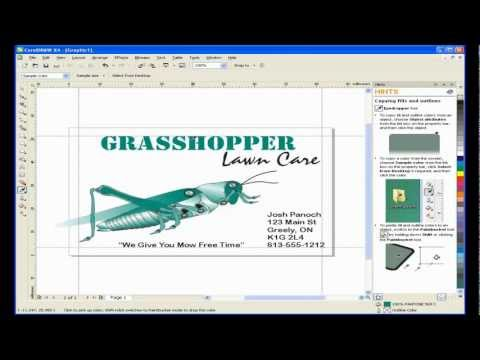 Create a Business Card with CorelDRAW