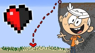 99% IMPOSSIBLE TO SAVE THE LOUD HOUSE WITH HALF A HEART IN MINECRAFT