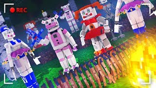 APOCALYPSE OF FNAF SISTER LOCATION IN MINECRAFT | CHALLENGE OF THE BASE VS APOCALYPSE IN MINECRAFT