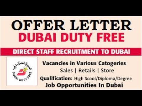 Offer Letter for Selected Candidate | Sales Jobs in Dubai | Male & Female | Dubai Latest Job 2018