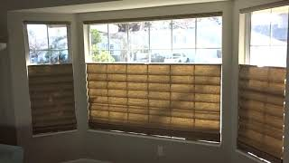 Top Down Bottom Up Roman Shades in Reno Home